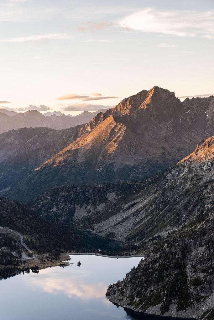 lac montagne matin