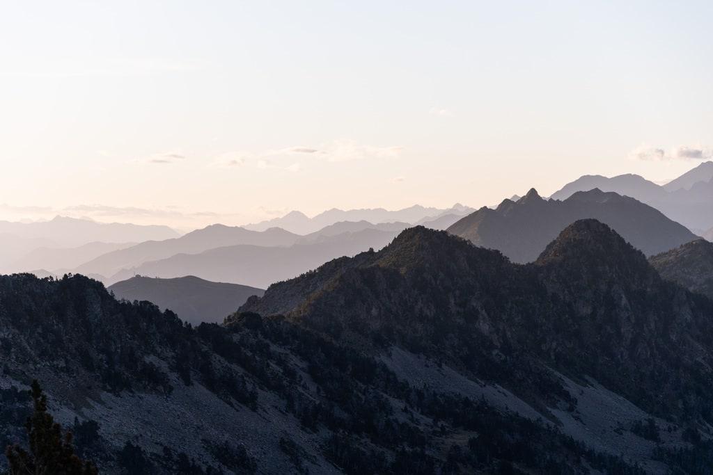 contraste relief montagne