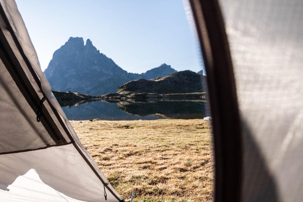 vue depuis tente montagne