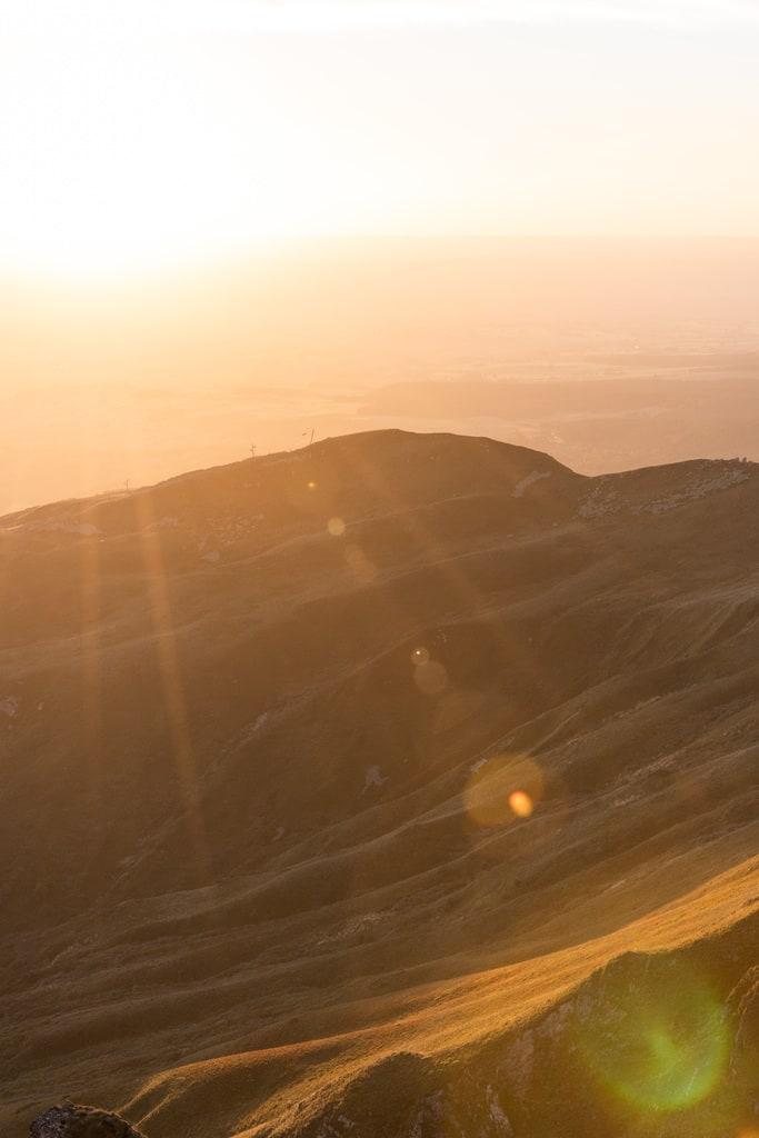 golden hour volcan
