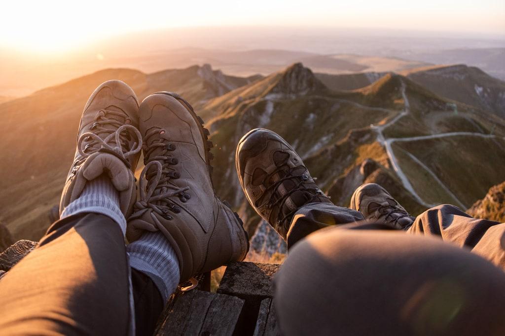 chaussures randonnée golden hour