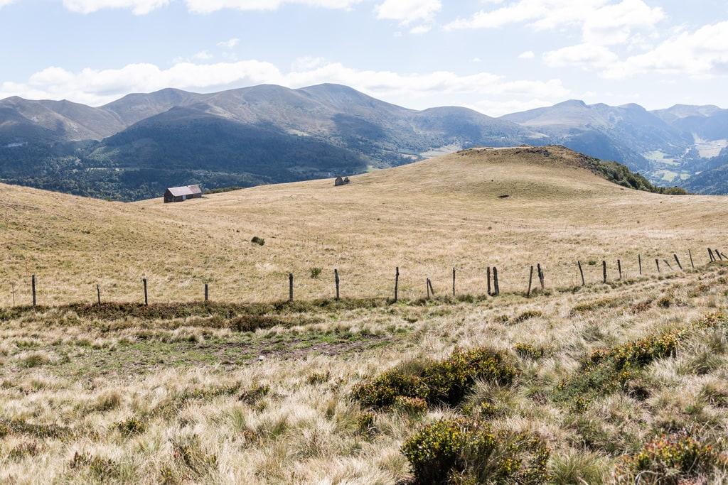 vue champs montagne
