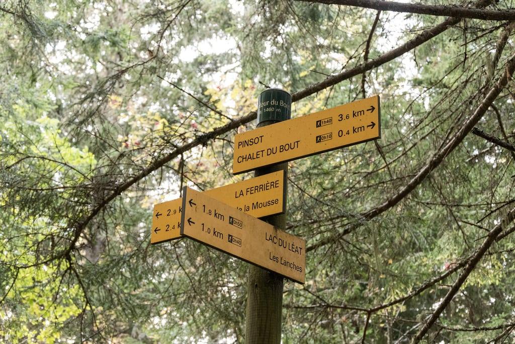 panneau signalétique randonnée