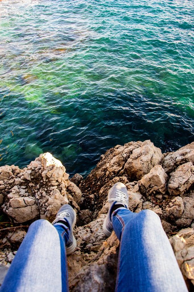 baskets au dessus mer