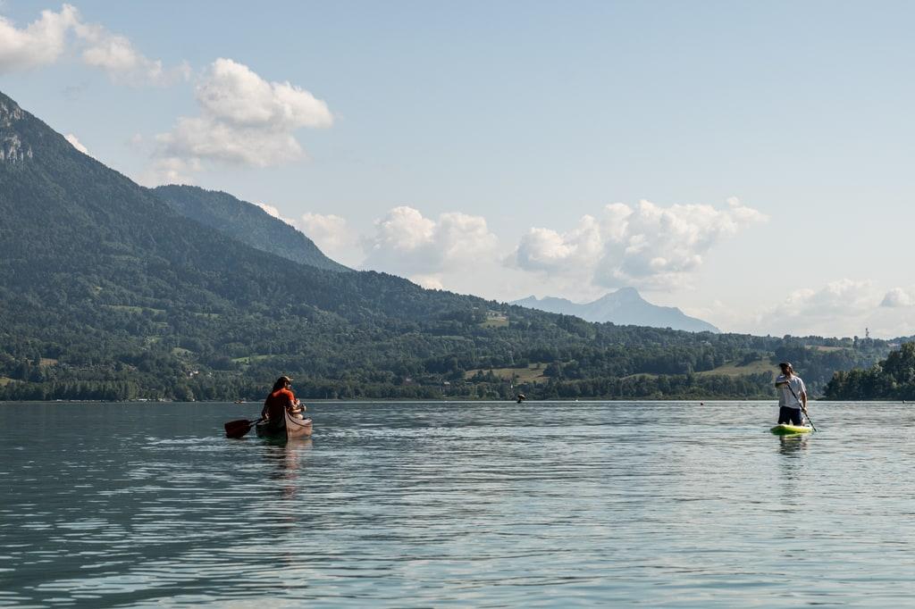 lac Aiguebelette canoe