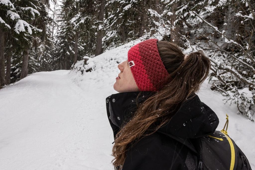 randonneur sous la neige