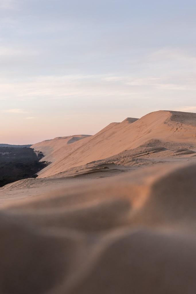 dune du pilat au matin
