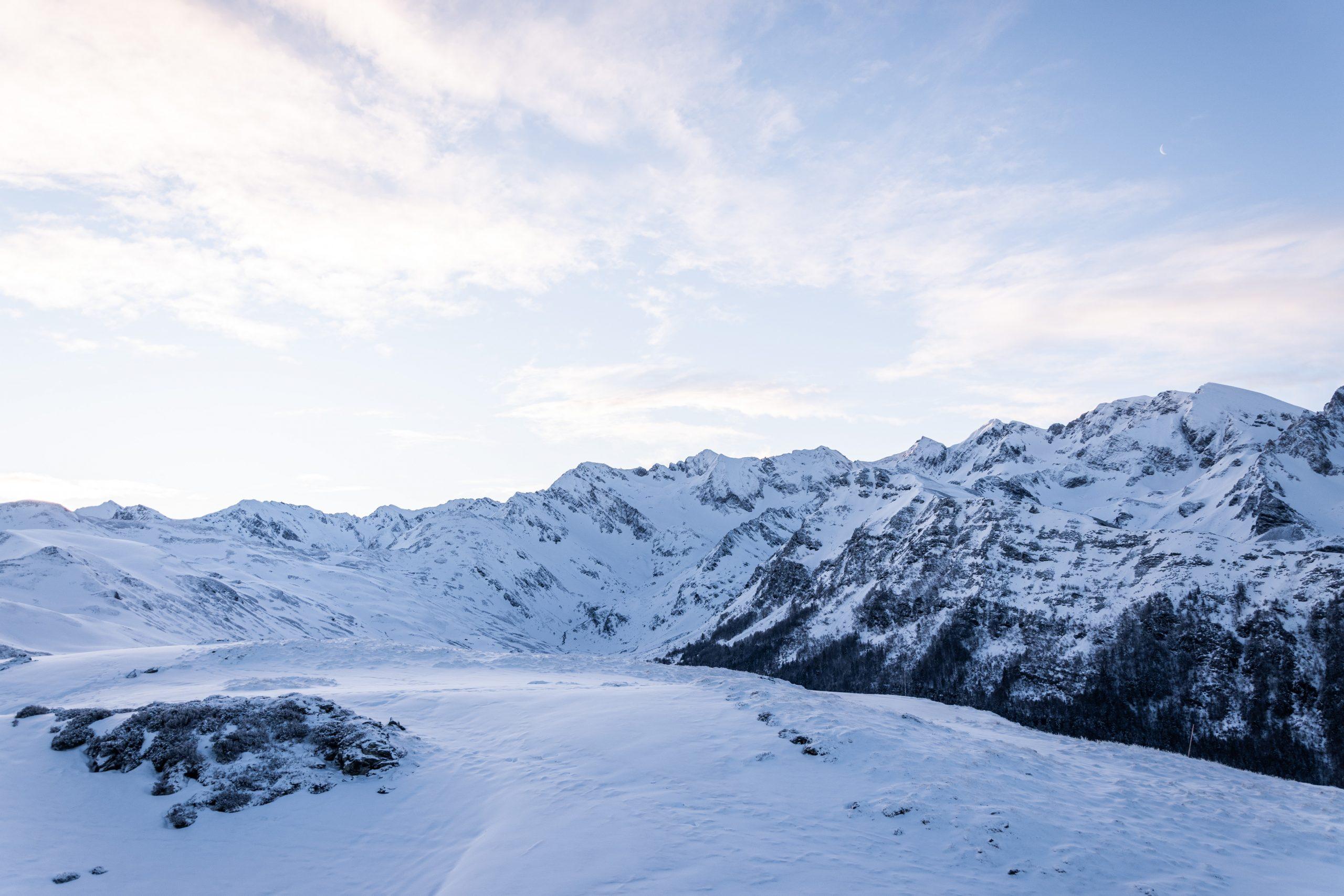 heure bleue montagne