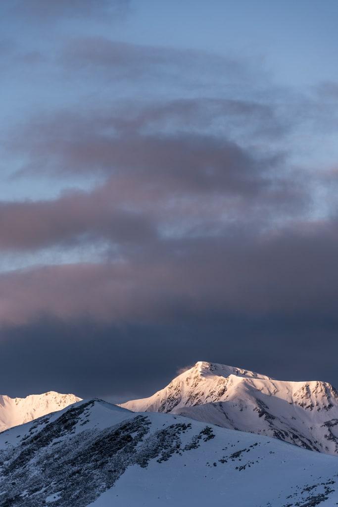 lever de soleil montagne