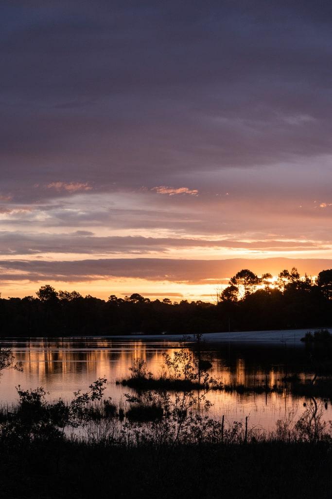lac lever de soleil