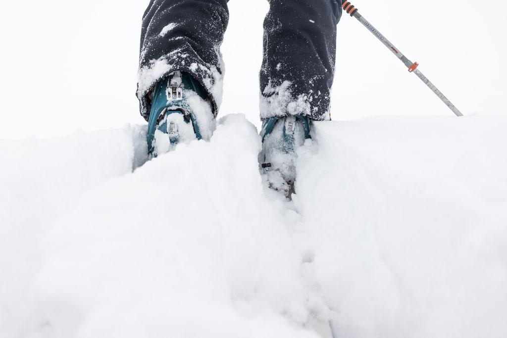 details chaussures ski de rando