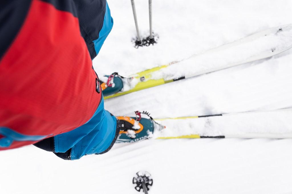 detail ski de rando