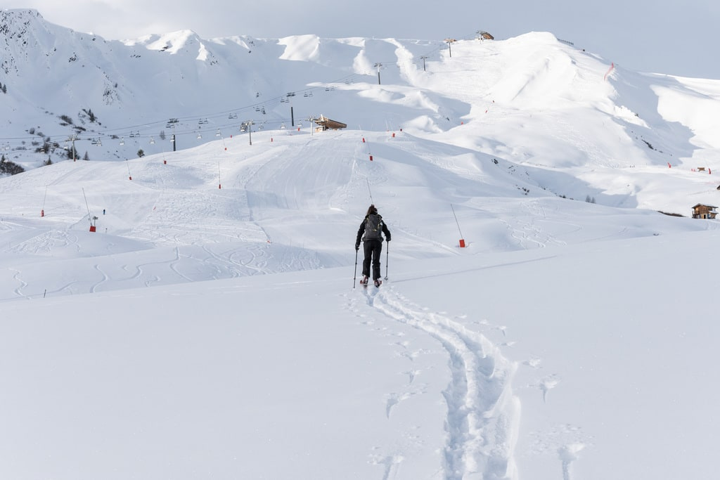 ski de rando poudreuse