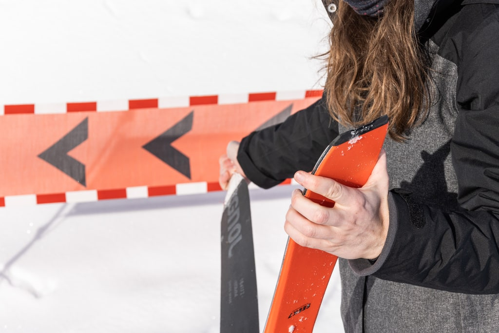 retirer peau du ski