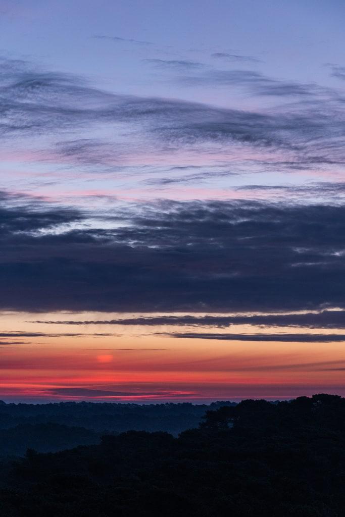 lever de soleil nuages