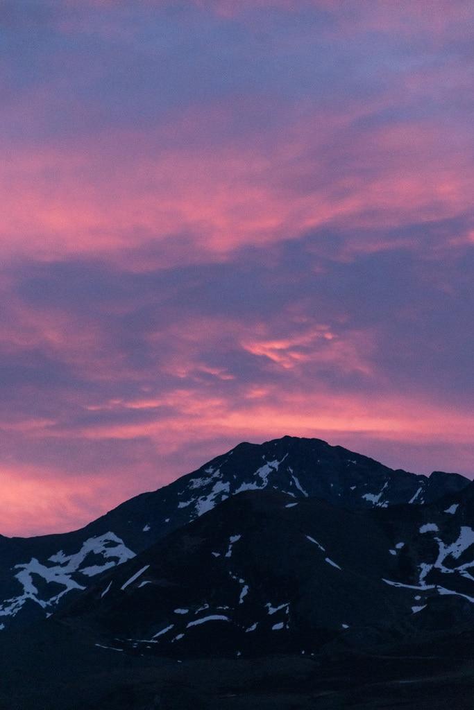lever de soleil rose