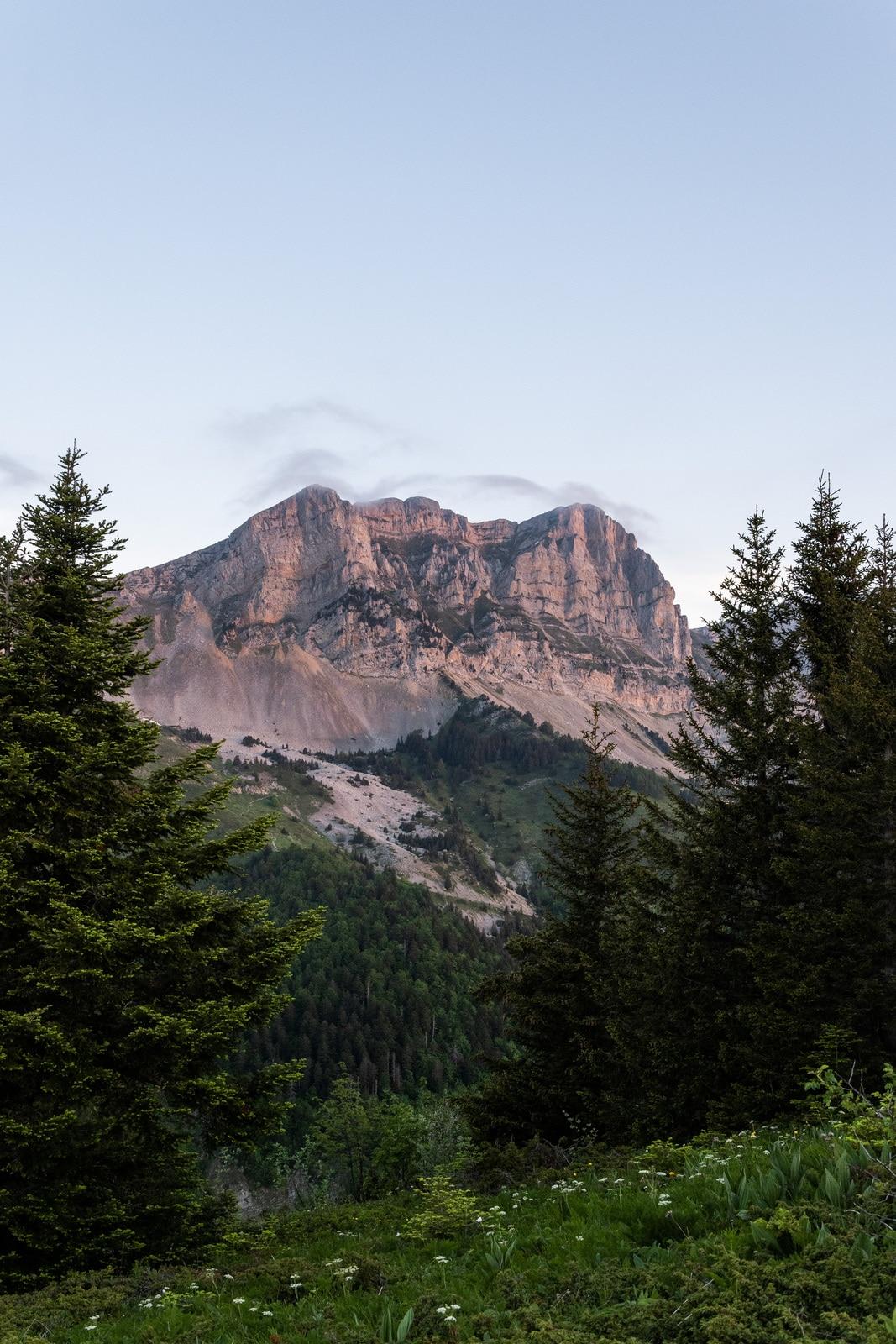 montagnes roses