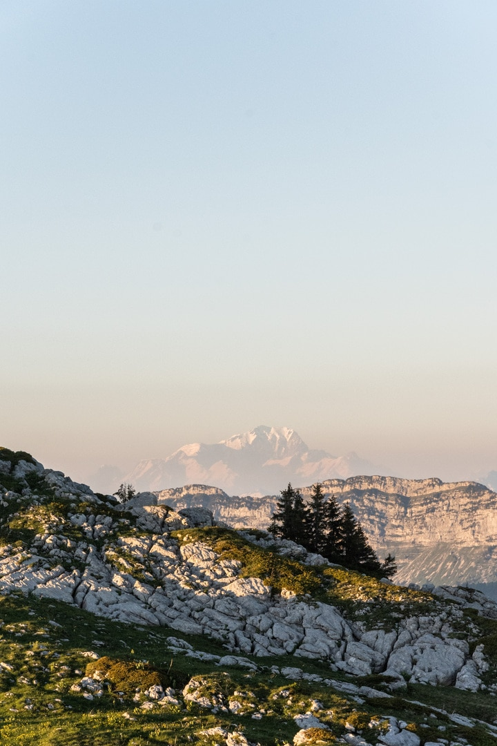 mont blanc depuis la chartreuse