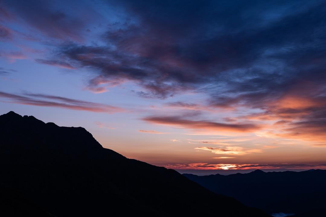 lever de soleil au col du portet