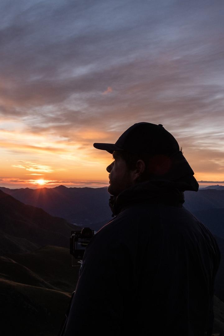photographe devant sunrise