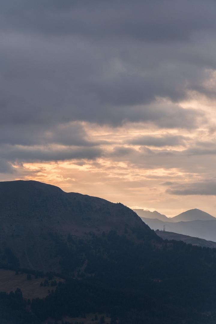 sunset sur la vallée