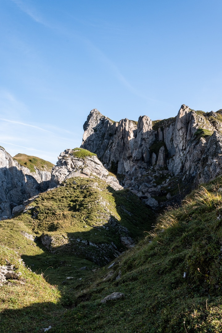 detail roche montagne